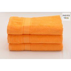 Narancssárga frottír törölköző 70x130