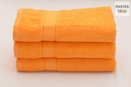 Narancssárga frottír törölköző 70x130-as méret