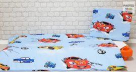 Autós kék  gyermek-, ovis ágynemű (310)
