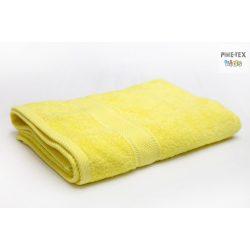 Sárga frottír törölköző 70x130