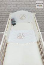 Vaj, hímzett alvós maci 3 részes babaágynemű szett