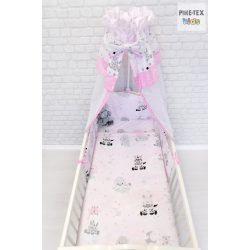 Afrikai Álom, rózsaszín 4 részes babaágynemű szett (533/R)