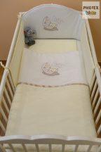 Vaj, hímzett alvós baba 3 részes babaágynemű szett