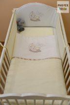 Vaníliaszín, hímzett alvós baba 3 részes babaágynemű szett (98)