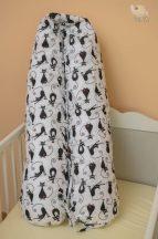 Black cats szoptatós-, kismama párna (504)