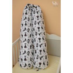 Fekete macska szoptatós-, kismama párna (504)
