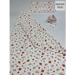 Cseresznyés pamut takaró szett+nyálkendő