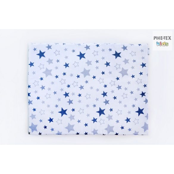 Nagy Csillagok,szürke,  babaágynemű huzat  (118/F-Sz)