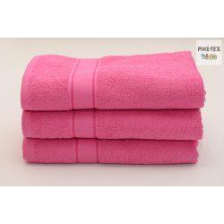 Pink frottír törölköző 70x130