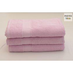 Rózsaszín frottír törölköző 70x130