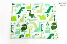Zöld dinoszauruszok gyermek-, ovis párna (468)