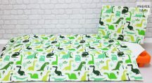 Zöld dinoszauruszok gyermek-, ovis ágynemű (468)