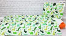 Zöld dinoszauruszok gyermek-, ovis ágynemű huzat (468)