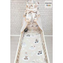 Barna ölelős macik 4 részes babaágynemű szett (449/B)