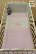 """Hamvas-rózsaszín, """"hímzett alvós baba"""" 2 részes babaágynemű szett (99)"""