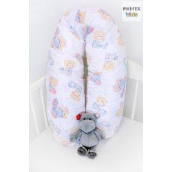 Pihe-Rózsaszín-pizsamás mackók,szopipárna (512/R)