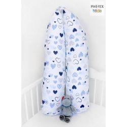 Kék pöttyös szívecskék, szoptatós, kismama párna (518/K)