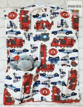 Színes tűzoltóautók ovis zsák (440)