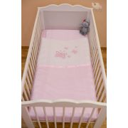 """Rózsaszín """"hímzett pillangós"""" babaágynemű szett (99)"""