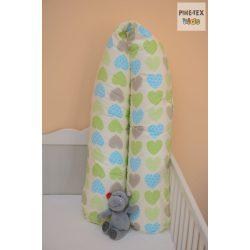 Zöld szíves szoptatós-, kismama párna (503/Z)