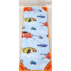 Autós kék óvodai derékalj (310)