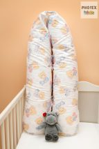 Pihe- Rózsaszín pizsamás bocsok szoptatós párna, kismama párna  (512/R)
