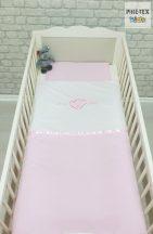 """Rózsaszín, """"hímzett i love baby feliratos"""" 2 részes babaágynemű szett (99)"""