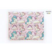 Rózsaszín  lufis unikornis gyermek-, ovis párna (477/R)