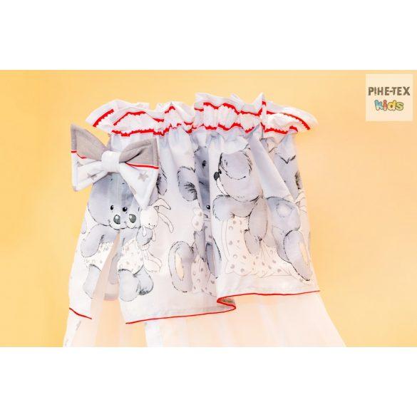 Szürke pelenkás maci 4 részes babaágynemű szett (465/Sz)