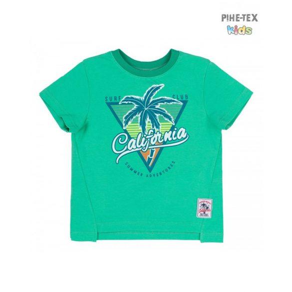 Bembi zöld, fiú póló, pálmafa mintával  (FB697)
