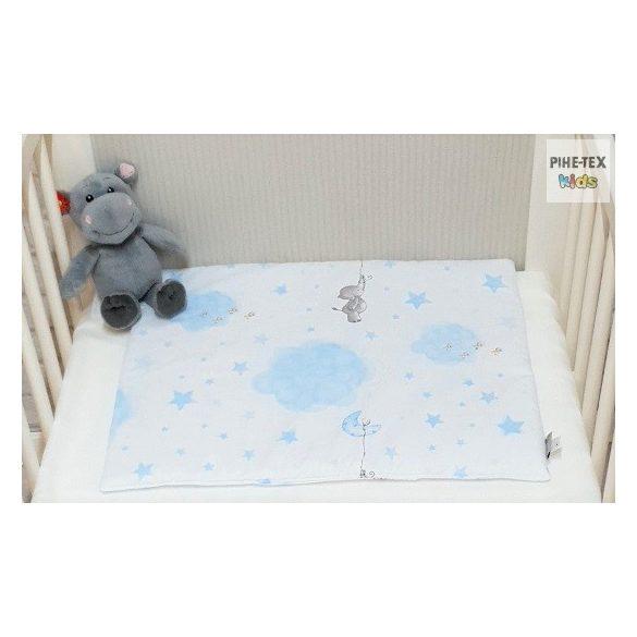 Bébi elefánt,Kék- 3 részes babaágynemű szett (582/K)