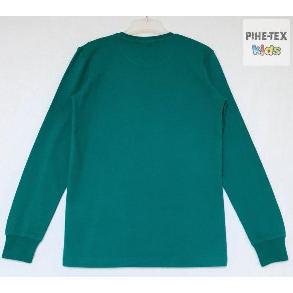 iDO fiú, zöld, hosszú ujjú felső, nyomott mintával (K705/00-4657)