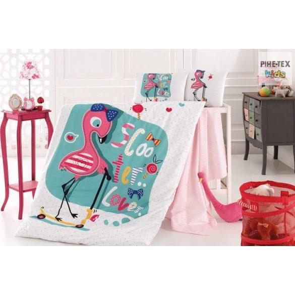 Flamingó pink ovis,ágynemű huzat 90x135 cm