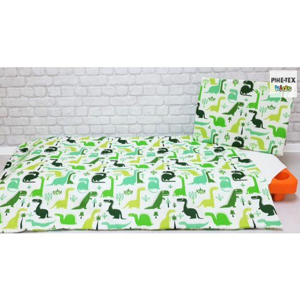 Dinópark, zöld, 5 részes ovis kezdőcsomag (2 részes fehér, ovis huzat, ovis zsák, tornazsák, vízhatlan matracvédő lepedő) + ajándék ovis törölköző