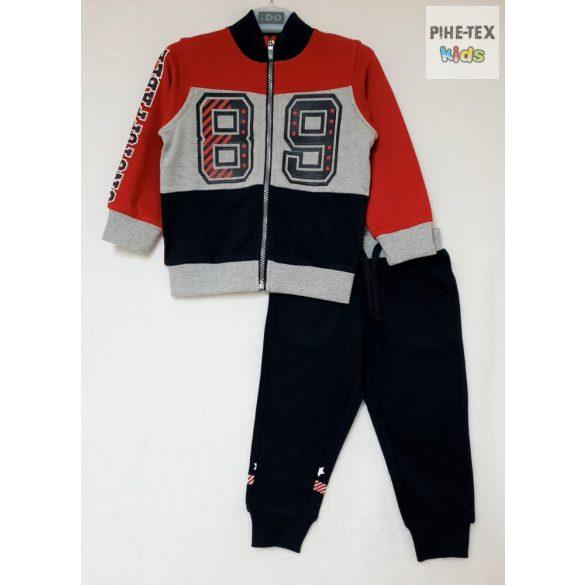 iDO 2 részes fiú szett, piros-sötétkék, melegítő nadrággal (K548/00-8010)