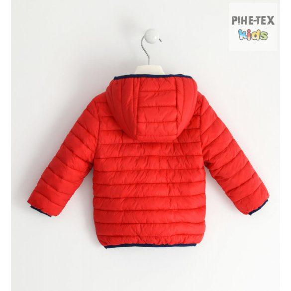 iDO fiú, piros, kapucnis kabát (J044/00-2256)