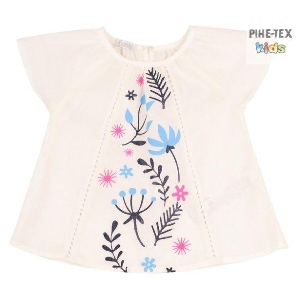 Bembi fehér színű, nyári kislány blúz (RB119)