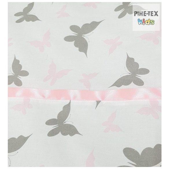 Lepkék-Szürke-rózsaszín, 3 részes babaágynemű szett (559/R)