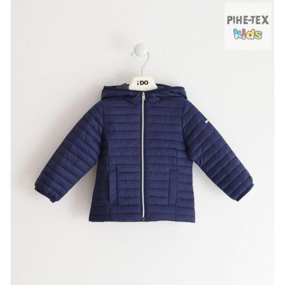 iDO lány, sötétkék-pöttyös, steppelt kabát (J001/00-3854)
