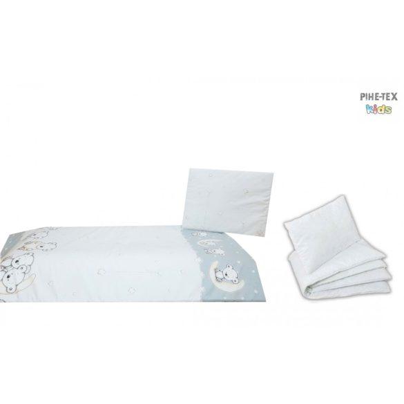 Holdon Ülő Macik szürke, ovis ágynemű szett 90x140cm (562/Sz) (ovis huzat, 2 részes fehér)