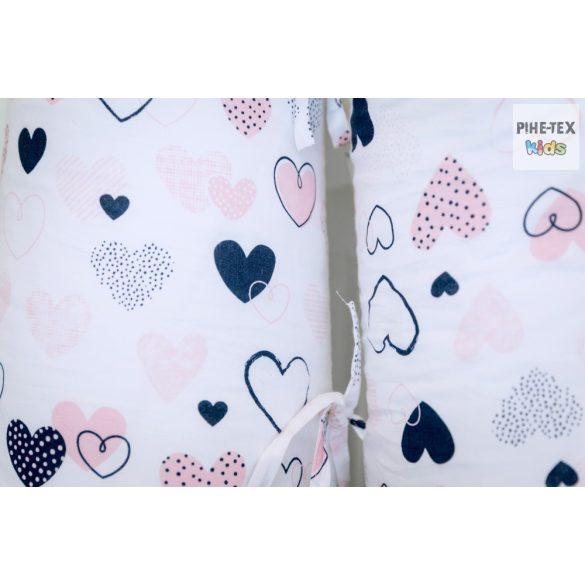 Rózsaszín pöttyös szívecskék, szoptatós, kismama párna (518/R)