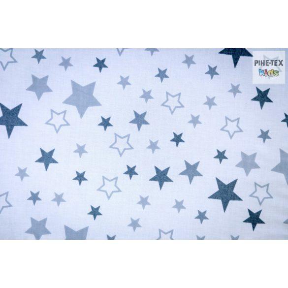Nagy Csillagok,szürke, 2 részes  babaágynemű szett  (118/F-Sz)