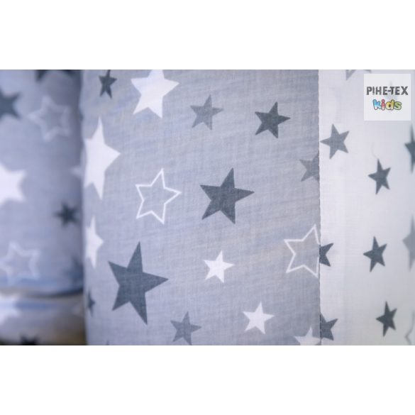 Nagy Csillagok,szürke, pihe-puha szopipárna (118/F-Sz)