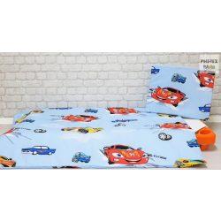 Kék autós,  gyermek-, ovis ágynemű (310)