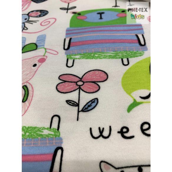 Pindurka állatok pamut takaró szett+nyálkendő