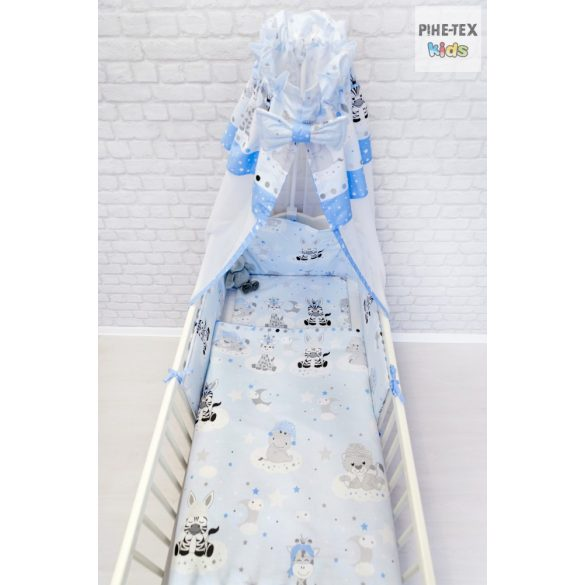 Kék, Afrikai Álom 4 részes babaágynemű szett (533/K)
