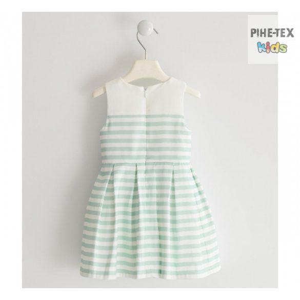 iDO lány, fehér-zöld csíkos, alkalmi ruha (J293/00-6ME5)
