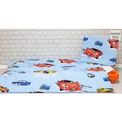 Kék autós,  gyermek-, ovis ágynemű huzat  (310)
