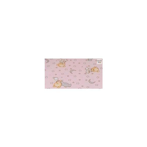 Buborékos maci, rózsa- 2 részes babaágynemű szett (561/R)
