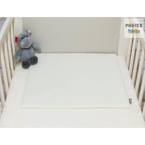 Vaníliaszín, hímzett alvós maci 3 részes babaágynemű szett (98)
